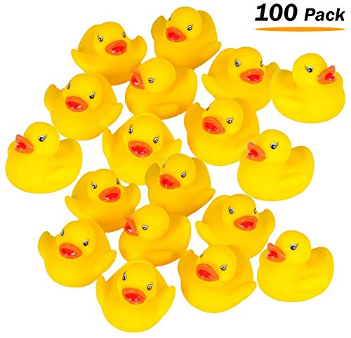 Rubber Duckies Measure - Mini Rubber Ducks Duckie Baby Shower Birthday Party Favors (1.5