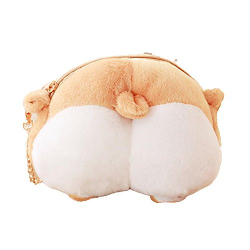 (Crossbody Handbag,AfterSo Cute Cat Butt Tail Plush Zipper Purse Shoulder Bags for teen girls (22cm/8.66