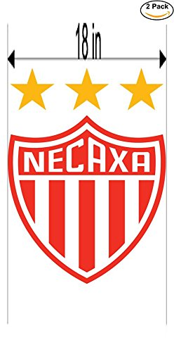 fan products of Necaxa Mexico Soccer Football Club FC 2 Stickers Car Bumper Window Sticker Decal Huge 18 inches