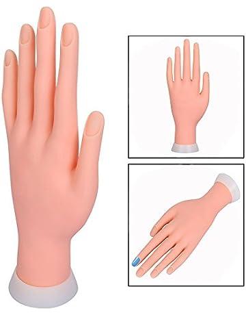 Itian Mano De Caucho Dedos De Práctica Flexible Manicura Pa Arte De Uñas PVC, Mano