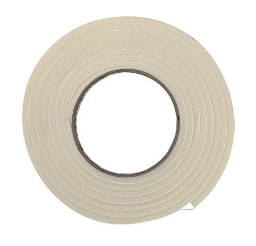 "Frost King R338WH 3/8"" x 3/16""/10' Rubber Foam Tape, White"