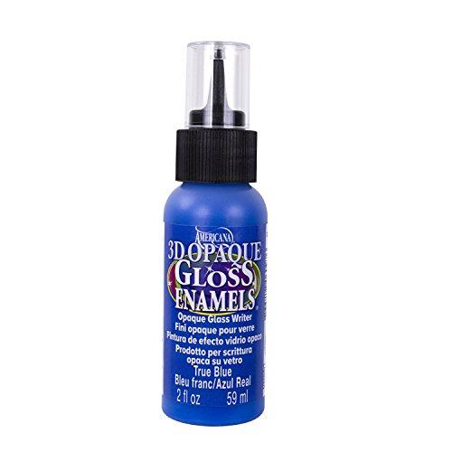 DecoArt Americana 3D Gloss Enamel Opaque Writers Paint, 2-Ounce, True Blue ()
