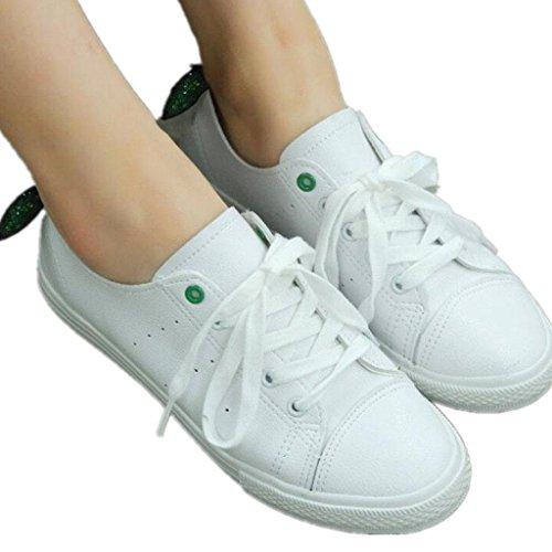 Shoes Estudiantes GREEN Red Clásico 37 Lady Ocio Cómodo Estudiantes Colores 39 XIE Dos Verano pequeña Decoración Movimiento qAIZ5nwO