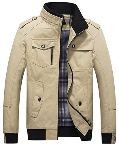 Di Abbigliamento Militare Allentato Kaki Casuale Cotone Huixin Tasca Cappotto Del Multi Collare Giacca Calda Basamento Colore Lavaggio Breve Maschile Esterna HvvWAUX