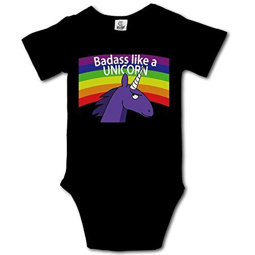 Animal Ark Baby Quilt - VHGJKGIN Badass Like A Unicorn Cute Baby Onesie Bodysuit