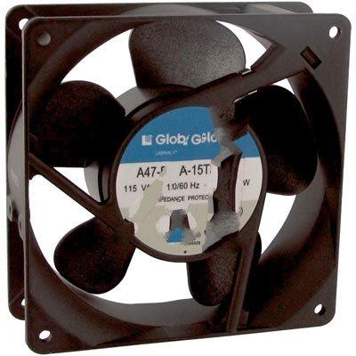 Globe Motors A47-B15A-15T3-100, Fan; AC; 115V; 120x120x38mm; Sq; 88/102CFM; 15/14W; 37/41dBA; 1450RPM; Terminals
