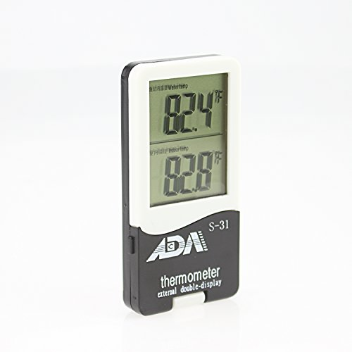 ADA Fish Celsius and Fahrenheit for Aquarium Thermometer-External Double-Display