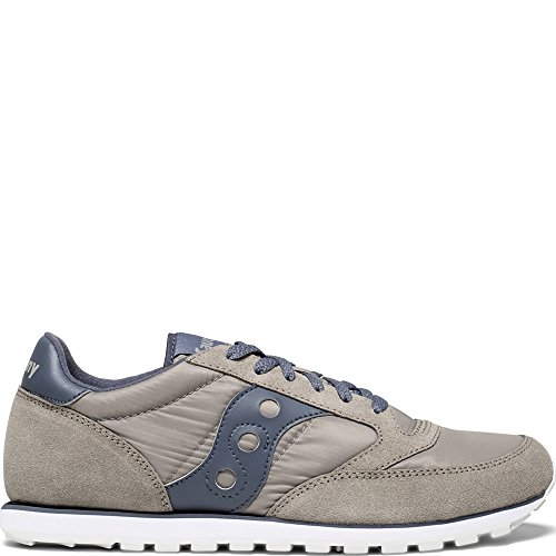 Cheap Saucony Originals Men's Jazz Low Pro Running Shoe, Grey/Navy, 14 Medium US