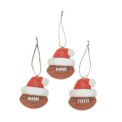 Football Ornaments (12 Ornaments per Order) Resin/Christmas Tree/Holiday Decorations/Grab or Goody Bags