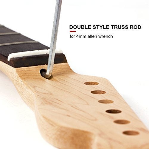 Matt style Finished Electric Guitar Neck 22 Frets Rosewood Fretboard Replacement wholesale 4pcs by Kmise (Image #6)