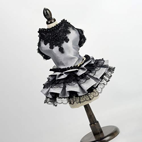 Smdoxi Black Dog Party Dress cat Dog Pettiskirt Skirt Dog Wedding Dress Costume Summer Dog Shirt Clothes]()