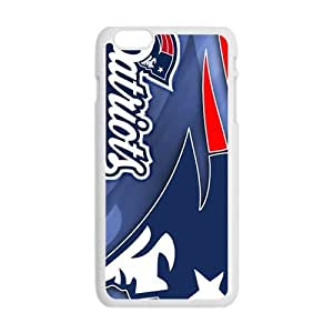 Happy New England Patriots Fashion Comstom Plastic case cover For Iphone 6 Plus