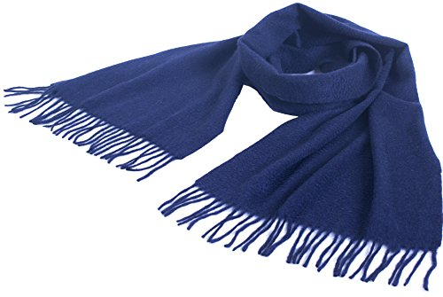 Price comparison product image 100% Cashmere Scarf Fringes for Men Women by Cashmere 4 U