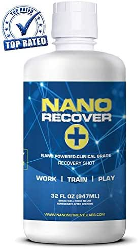 NANO Recover| Clinical Grade Hangover Cure Recovery Shot | Morning After Alcohol Recovery Drink| Liver Detox & Hangover Prevention Remedy w/DHM, Milk Thistle, Electrolytes, Vitamins, Minerals- 16 Serv