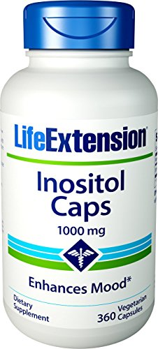 Foods Inositol Pure Powder - Life Extension Inositol 1000 mg, 360 Vegetarian Capsules