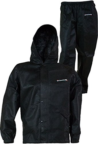 COMPASS 360 SportTEK 360 Waterproof Rain Suit; Jacket and Pants (Small, Black)
