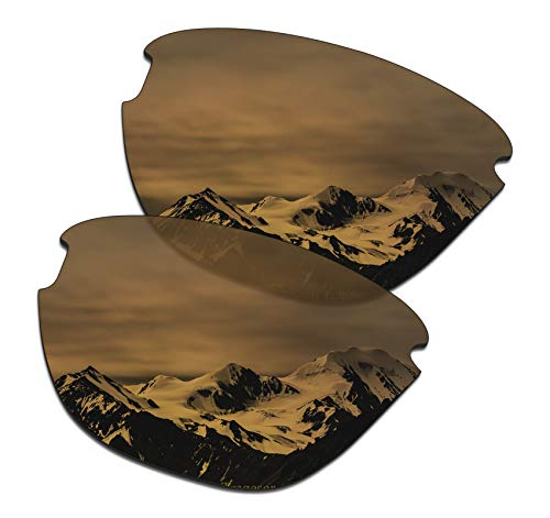 SmartVLT Men's Bronze Gold Replacement Lenses for Oakley Frogskins Lite - Lite Lens Gold