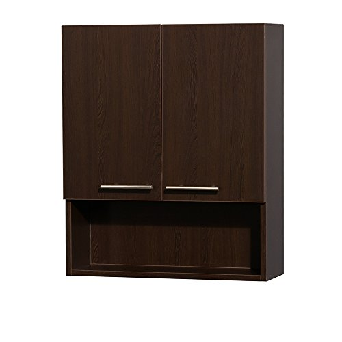 - Wyndham Collection Amare Bathroom Wall-Mounted Storage Cabinet in Espresso (Two-Door)