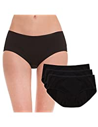 Hesta Women's Organic Cotton Period Menstrual Sanitary Protective Panties/3Pack