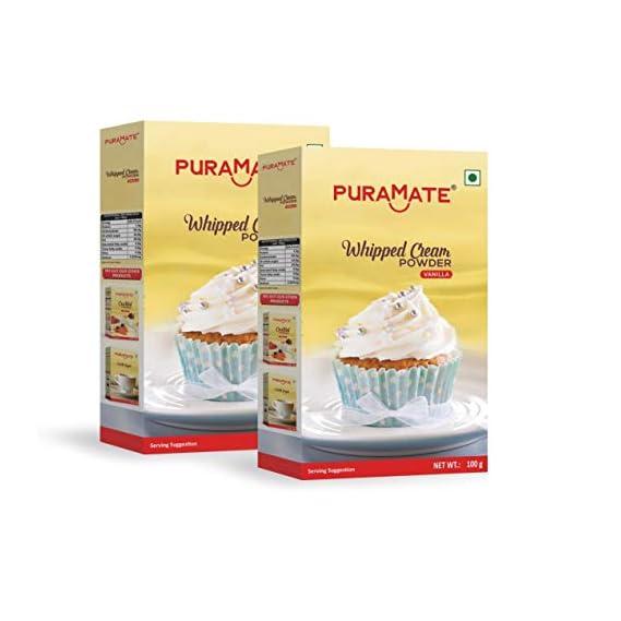 BAKERSVILLE Puramate Whipped Cream Powder-Vanilla, 100g (Pack of 2)