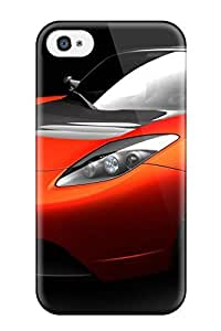 Cody Elizabeth Weaver Fashion Protective Tesla Roadster Sports Car Case Cover For Iphone 4/4s