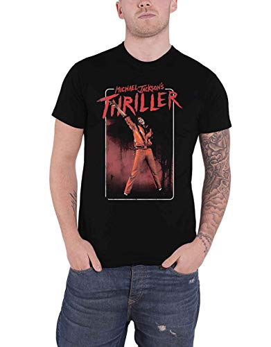 Michael Jackson 'Thriller Red Suit' (Black) T-Shirt (2 extra -
