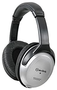 Avlink SH-40VC Full Size Stereo Headphones with Volume Control with a 3.5mm and a 6.35mm Headphone Socket. by Qtx