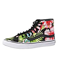Vans SK8-Hi Slim Skate Shoe - Women's (Hawaiian Floral) Black, Mens 4.5/Womens 6.0
