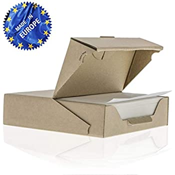 ZeZaZu Parchment Paper Squares - 5.5 x 5.5 inches (500 sheets) - MADE IN EUROPE - for Baking, Hamburger, Diamond Painting Craft | Dual-Sided Coating, Non-stick, Siliconized, Convenient Dispenser Box