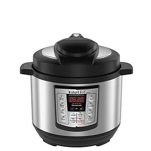 Instant Pot Lux Mini 6-in-1 Electric Pressure Cooker, Slow Cooker, Rice Cooker, Steamer, Saute, and Warmer, 3 Quart, 10 One-Touch Programs