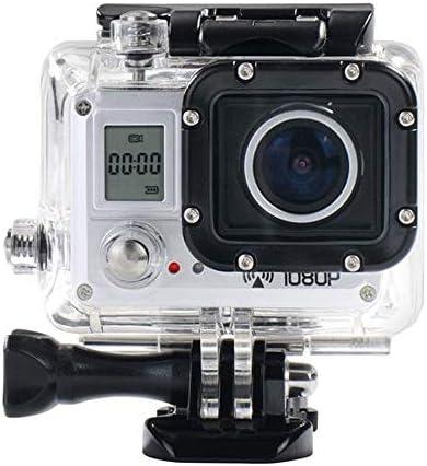 アクションカメラ 170度の広角レンズPortscamera強く安定WiFiテクノロジー スポーツカメラ (Color : Gray, Size : One size)