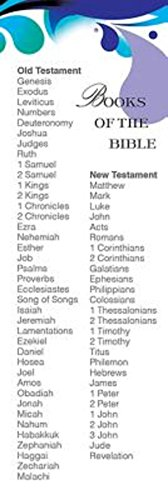Deep Blue Books of the Bible List Bookmark (Pkg of 25) from Abingdon Press