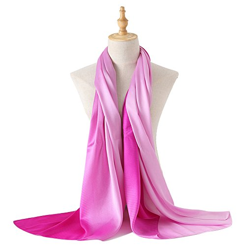 (Bellonesc Silk Scarf 100% silk Long Lightweight Sunscreen Shawls for Women)
