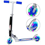 ChromeWheels Kick Scooter for Kids, Deluxe 4 Adjustable Height 2 Wheels with LED