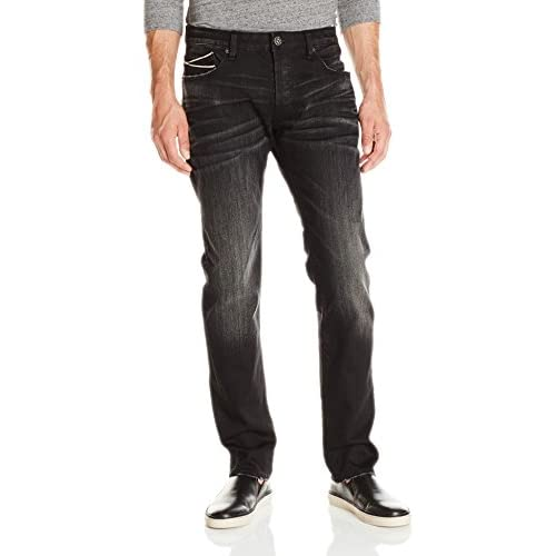 Cheap Cult of Individuality Men's Greaser Slim Straight Leg Jean in Inferno