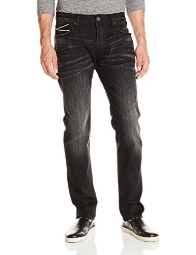 Cult of Individuality Men's Greaser Slim Straight Leg Jean in Inferno, 30]()
