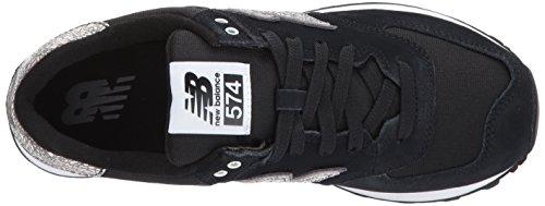 New Balance 574, Chaussures de Running Entrainement Femme Noir (Black)