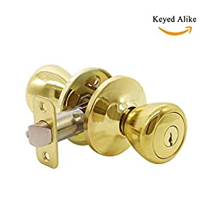 entry door lockset with key tulip style entrance knob with round