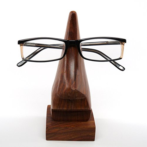 lehris spectacle display stand wooden nose eyeglass