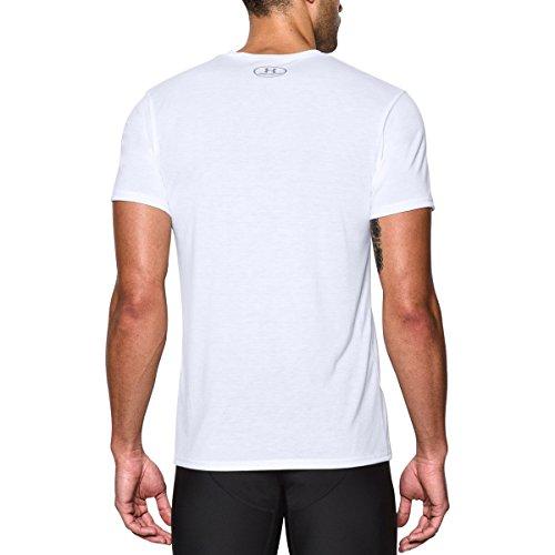 Under Armour Hombre Básico de la tripulación ropa interior (Pack de 2) White/ White