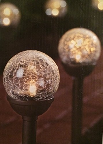 Hampton Bay 2-light Solar Remington Bronze Cracked Glass Globe Path Light (6-pack) Two Light Path Fixture