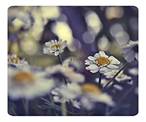 Decorative Mouse Pad Art Print Landscape and Plants Daisies Bokeh by icecream design