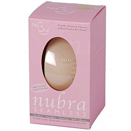 Nubra Sheer Bra (Nubra Seamless Super Light Adhesive Bra, D Cup, Nude)