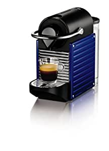 Nespresso Pixie Indigo (blue) XN3009 Krups  - Cafetera monodosis (19 bares, Apagado automático, Sistema calentamiento rápido), Color Azul