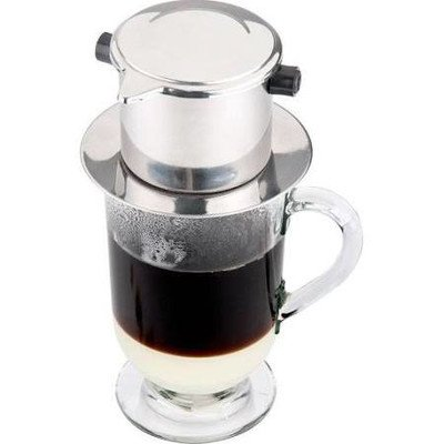 Vietnamese Three Piece Coffee Filter Set, French Coffee, Slow-Drip, Espresso, Single Serving Stainless Steel