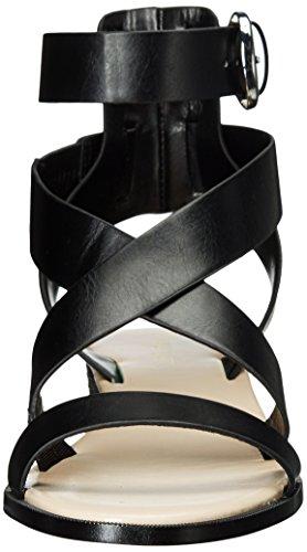 Sandalia De Cuero Nine West Mujeres Velope Black