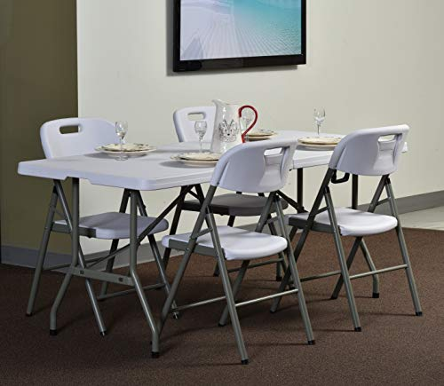 Sandusky Lee FPT7230-WV2 Commercial Fold in Half Utility Table, 6', White, 29'' Height, 72'' Width, 30'' Length by Sandusky (Image #4)