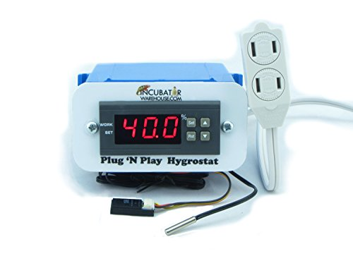 Plug 'n Play Hygrostat for Humidity Control in Egg Incubator, Reptile Terrarium