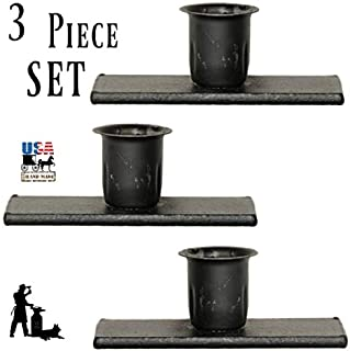product image for Saving Shepherd 3 Window Sill Candle Holder Set - Wrought Iron Country Metal Taper Candlestick Stands by Amish Blacksmith Lancaster Pennsylvania USA