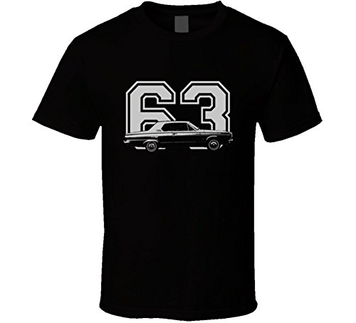 CarGeekTees.com 1963 Dart 426 HEMI Faded Look Side View with Year Dark Color Car Lover Gift Enthusiast T Shirt XSY Black